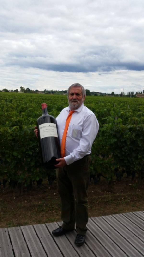 Philippe Markey, dénicheur de crus pour les cavistes CAVE CONSEIL a trouvé sa bouteille de St Emilion Grand Cru Classé Château La Marzelle !