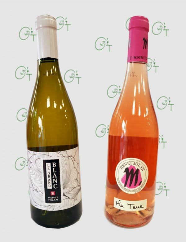 Le Grand Blanc et Ma Terre rosé du Domaine Henri Milan dans vos caves à vins de Marseille