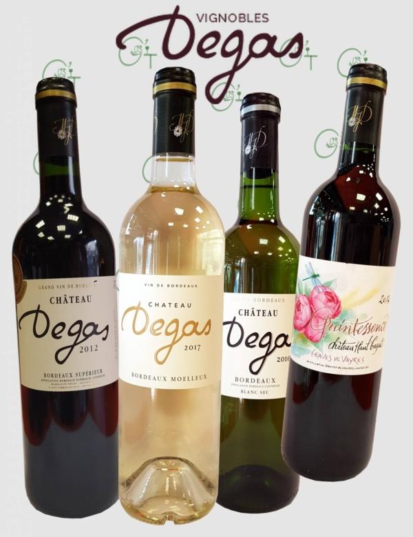 La sélection des vins de Bordeaux des Vignobles Degas chez vos cavistes à Marseille ou Aix en Provence