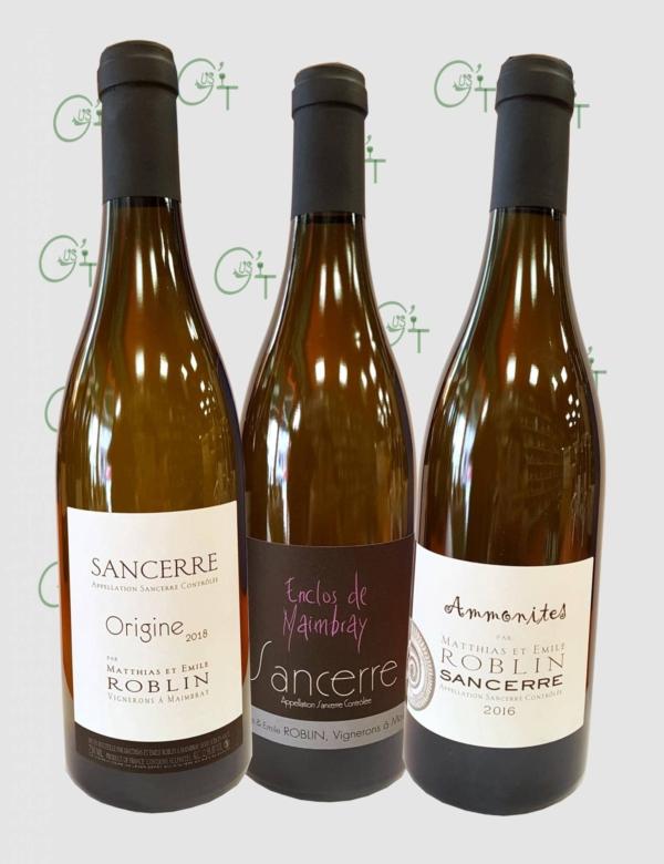 Les vins de Sancerre blanc de Matthias et Emile Roblin dans nos caves à vins à Marseille