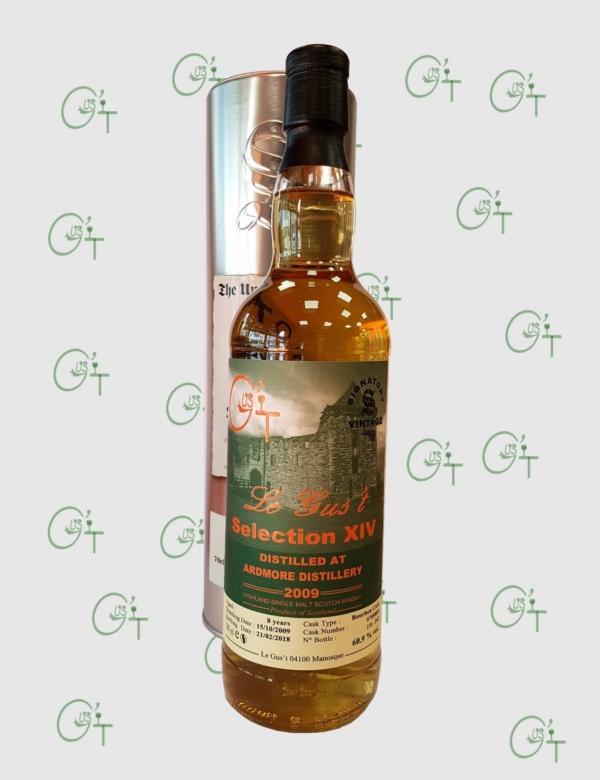 Selection XIV Le Gust, une bouteille de whisky Ardmore 2009 chez CAVE CONSEIL expert en whisky à Marseille